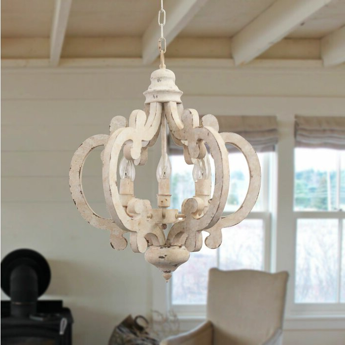 Preferred Lynn 6 Light Geometric Chandeliers For Kacie Cottage Crown 6 Light Candle Style Chandelier (View 8 of 25)