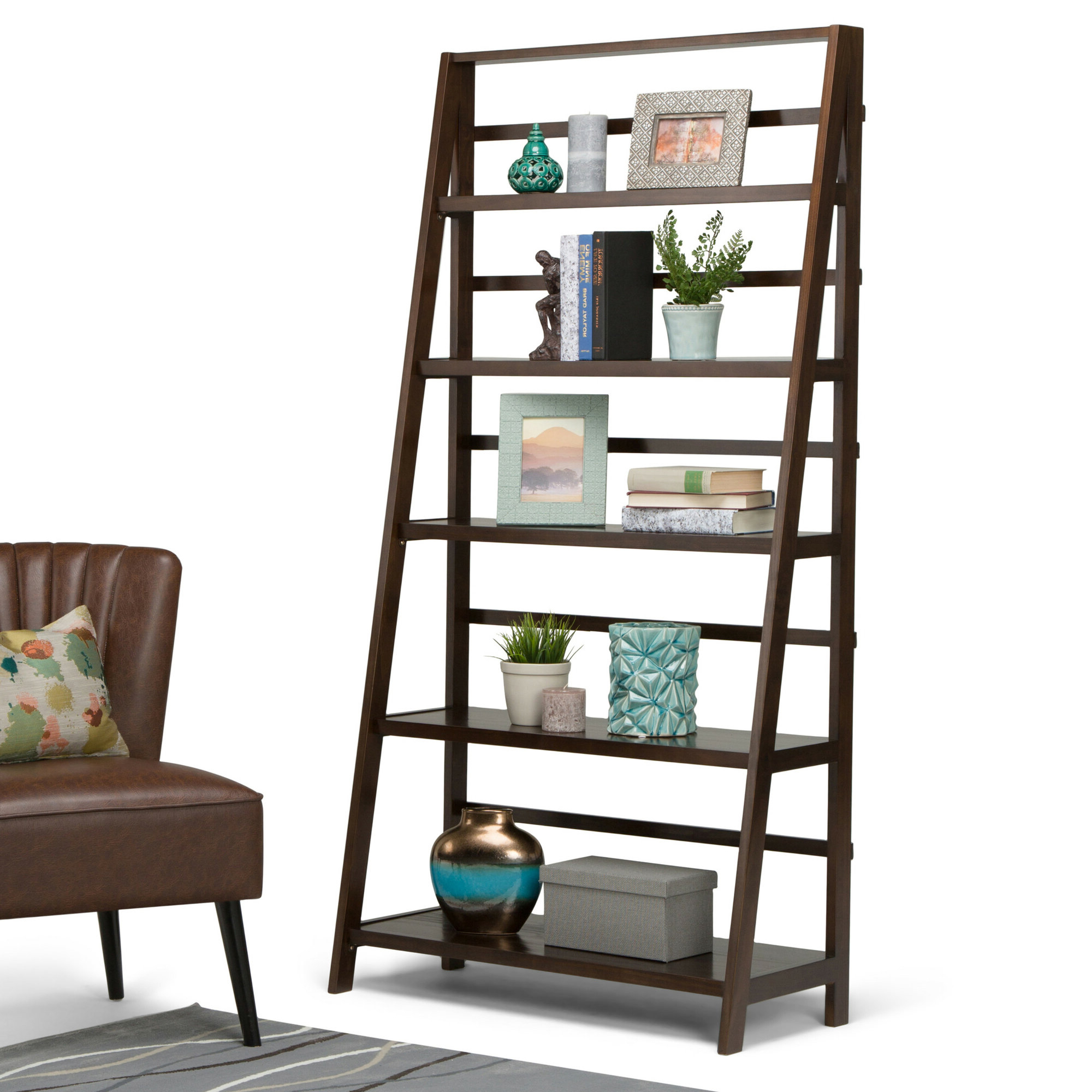 Preferred Mayna Ladder Bookcases Within Details About Alcott Hill Mayna Ladder Bookcase (Gallery 6 of 20)