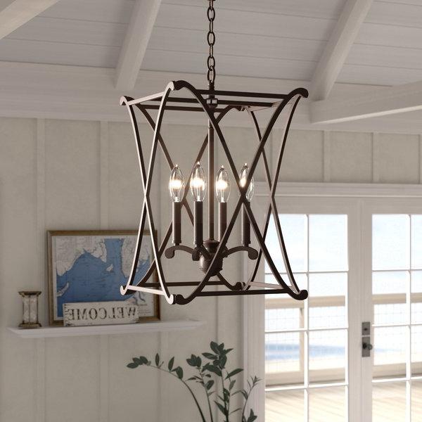 Preferred Nisbet 4 Light Lantern Geometric Pendant Inside Nisbet 4 Light Lantern Geometric Pendants (Gallery 5 of 25)