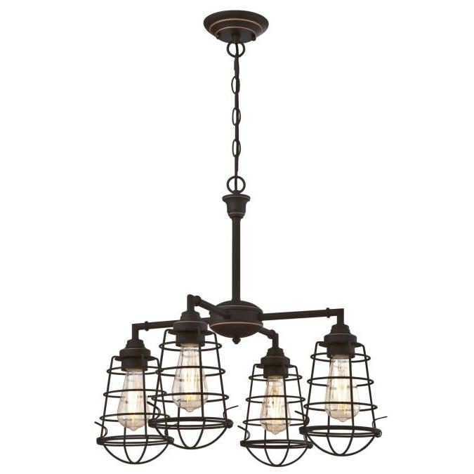 Preferred Nolan 1 Light Lantern Chandeliers In Westinghouse Lighting Nolan Four Light Indoor Chandelier (View 11 of 25)