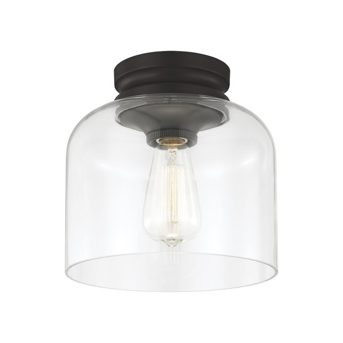 Preferred Nolan 1 Light Lantern Chandeliers With Regard To Nolan 1 Light Semi Flush Mount (View 22 of 25)
