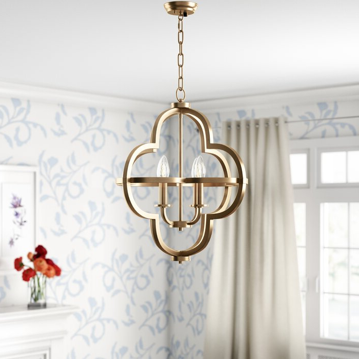 Preferred Reidar 4 Light Geometric Chandeliers In Middleton 4 Light Single Geometric Chandelier (Gallery 15 of 25)