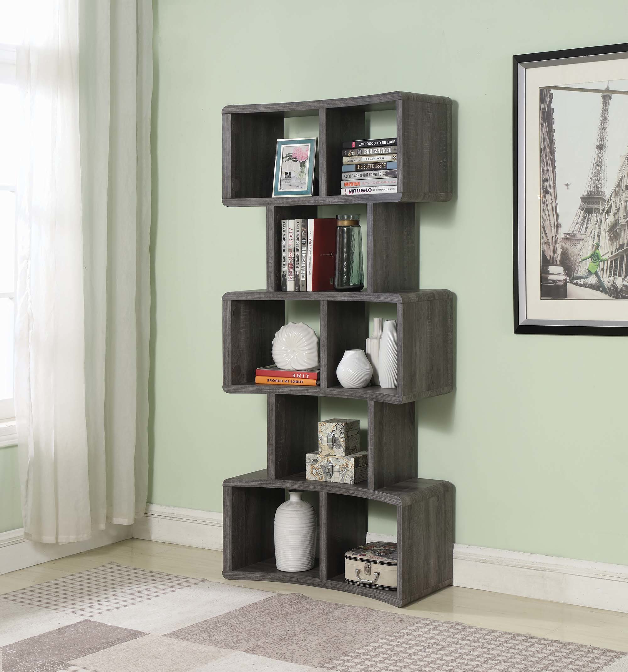 Preferred Sachiko Standard Bookcase In Cullison Standard Bookcases (View 11 of 20)