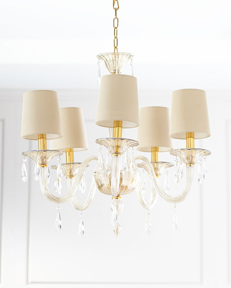 Preferred Thresa 5 Light Shaded Chandeliers Intended For Pietro 5 Light Crystal Chandelier (View 24 of 25)