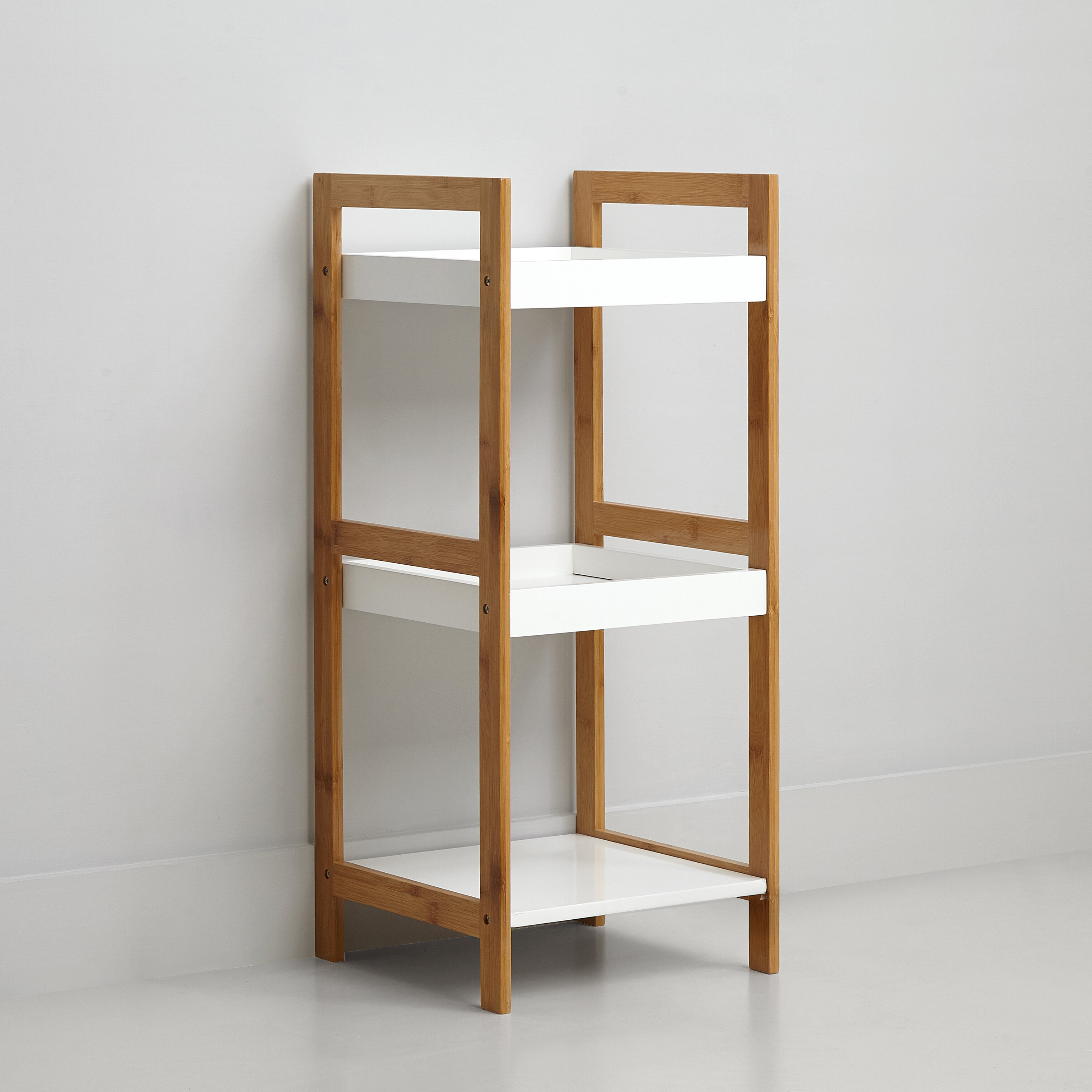 Recent 3 Tier Bamboo Standard Bookcase Within Moeller Standard Bookcases (View 16 of 20)