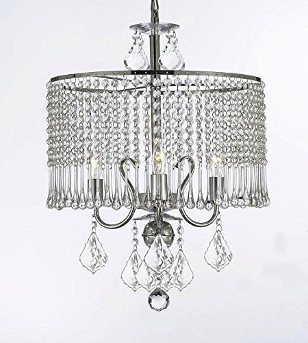 "Recent Aldgate 4 Light Crystal Chandeliers Within Contemporary 3 Light Crystal Chandelier Chandeliers Lighting With Crystal Shade! W 16"" X H 21"" (View 12 of 25)"