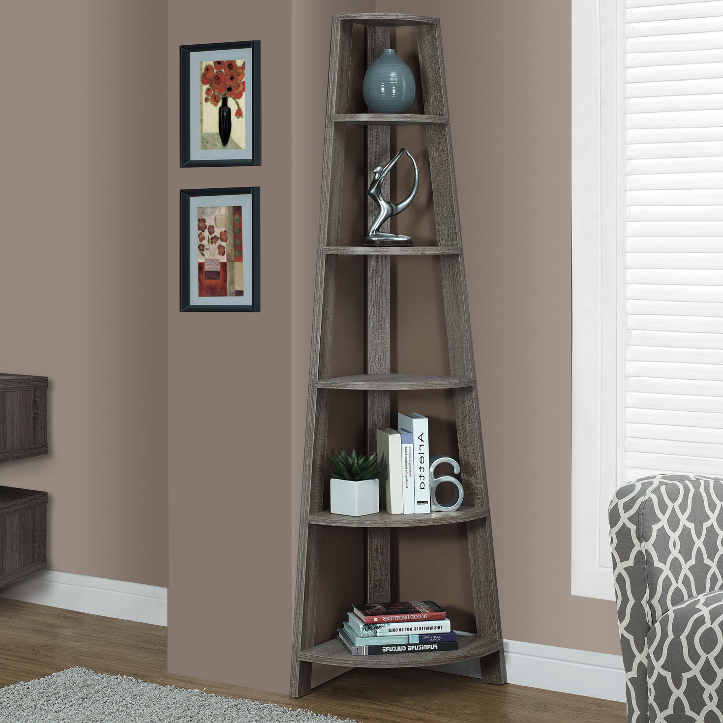 Recent Breakwater Bay Hewitt Corner Bookcase For Whipkey Etagere Bookcases (View 20 of 20)