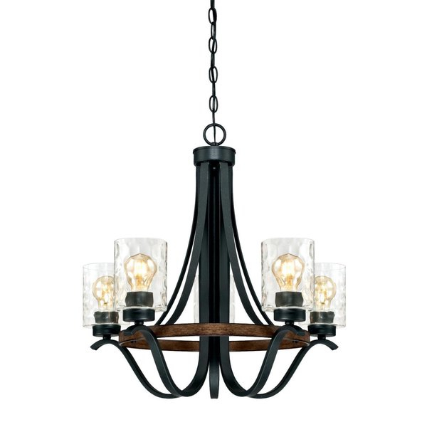 Recent Crofoot 5 Light Shaded Chandeliers Pertaining To Sabo Indoor 5 Light Shaded Chandelier (View 22 of 25)