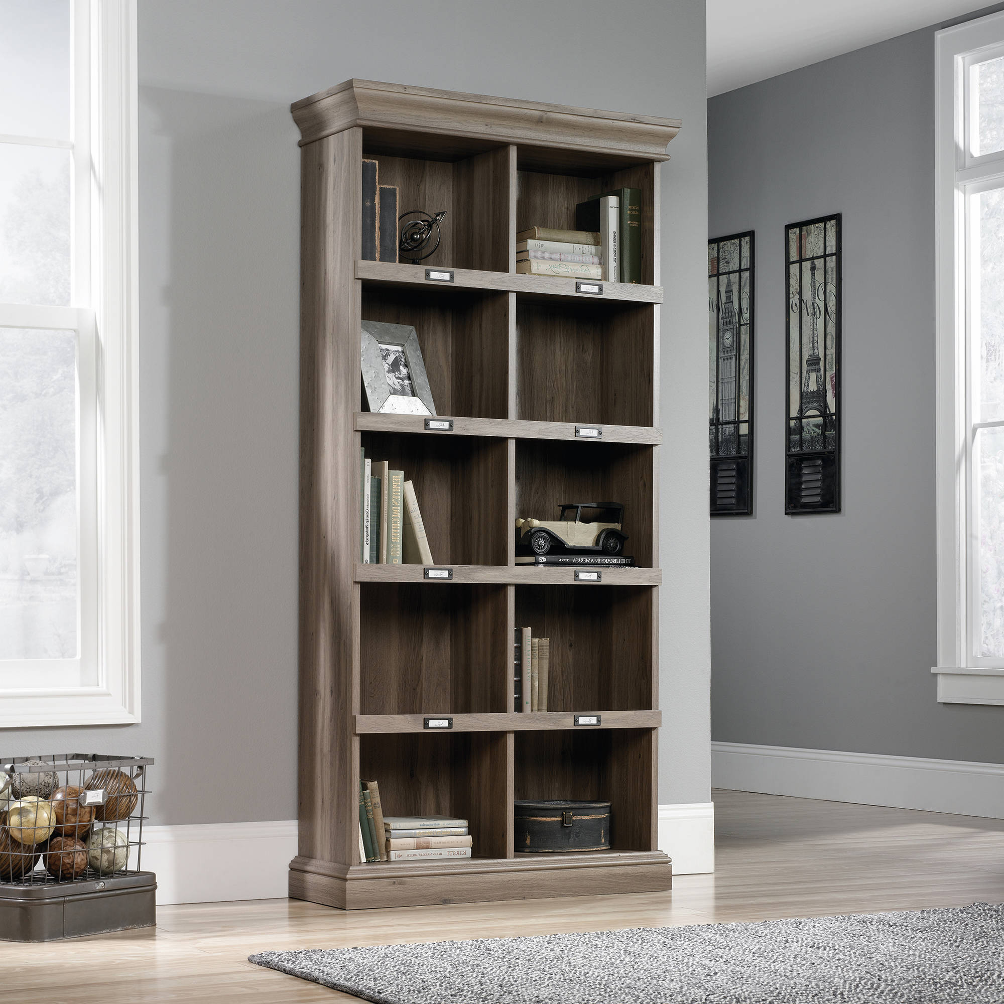 """Recent Decorative Standard Bookcases Pertaining To Mainstays 71"""" 5 Shelf Standard Bookcase, White (View 19 of 20)"""