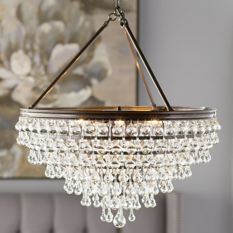 Recent Devanna 8 Light Crystal Chandelier Within Ladonna 5 Light Novelty Chandeliers (View 17 of 25)