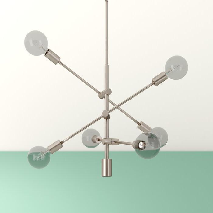 Recent Eladia 6 Light Sputnik Chandelier For Eladia 6 Light Sputnik Chandeliers (View 3 of 25)