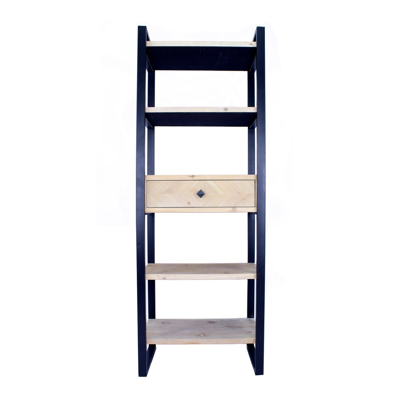 Recent Emerson Corner Unit Bookcases Pertaining To Emerson Industrial 5 Shelf, 1 Drawer Standard Bookcase (View 17 of 20)