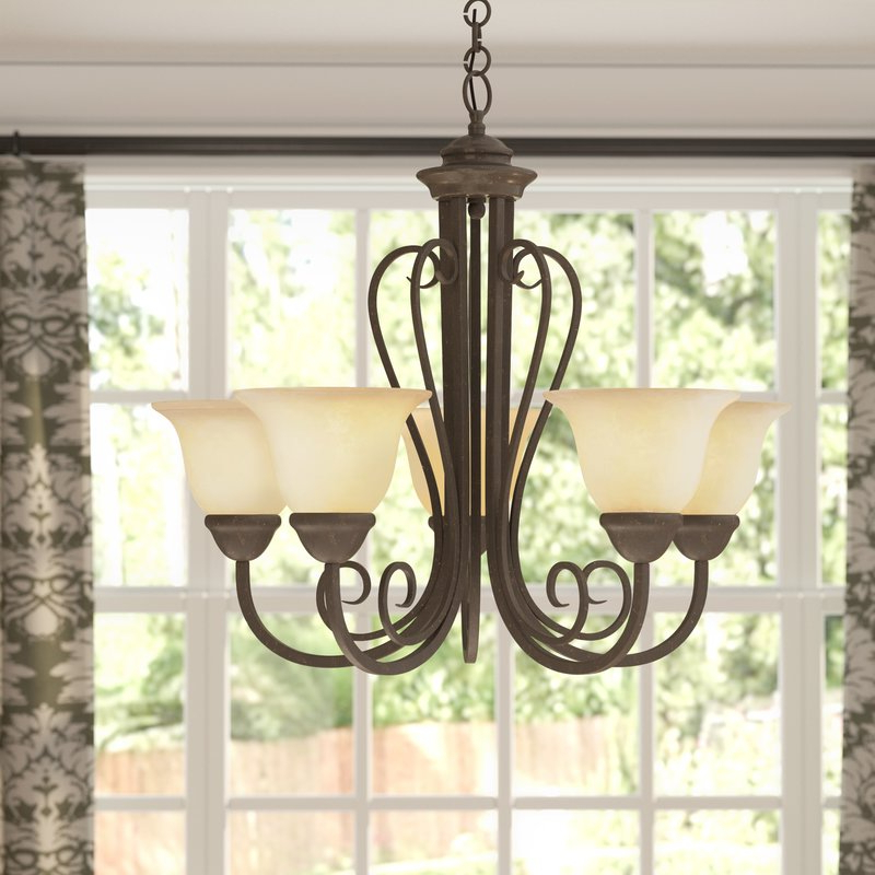 Recent Gaines 5 Light Shaded Chandeliers With Blasco 5 Light Shaded Chandelier (View 16 of 25)