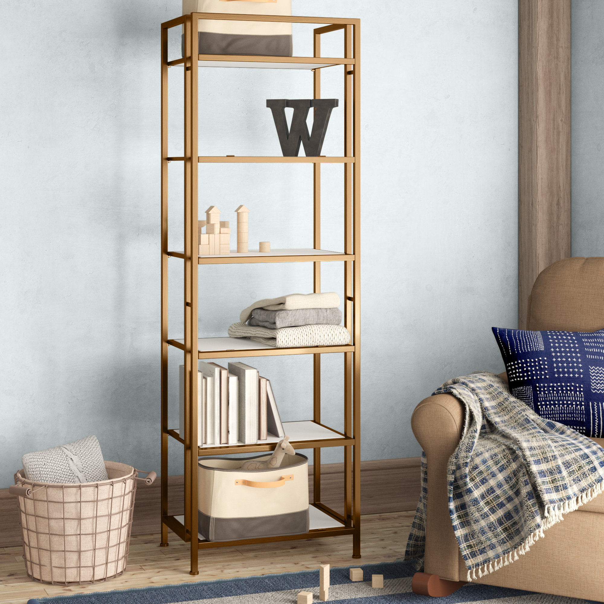 Recent Geomar Etagere Bookcase Within Cecelia Etagere Bookcases (View 19 of 20)