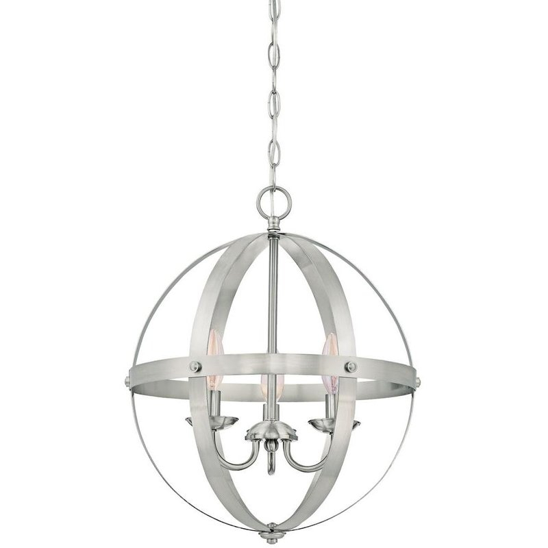 Recent La Barge 3 Light Globe Chandeliers With Regard To La Barge 3 Light Globe Chandelier (View 23 of 25)