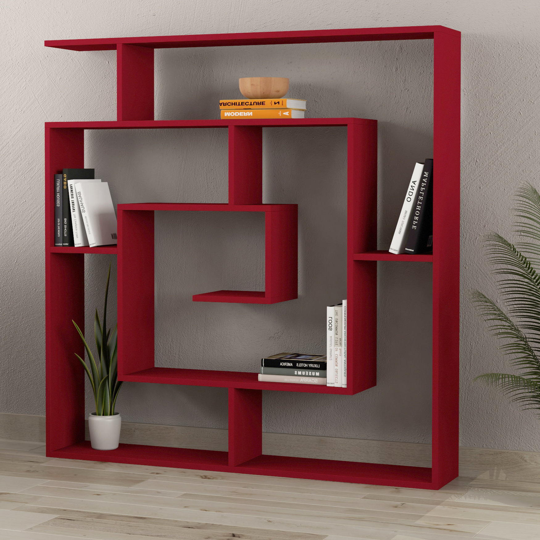 Recent Mckibben Geometric Bookcases Throughout Ivy Bronx Mckibben Geometric Bookcase (View 7 of 20)