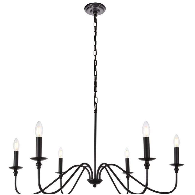 Recent Perseus 6 Light Candle Style Chandeliers Intended For Hamza 6 Light Candle Style Chandelier (View 19 of 25)