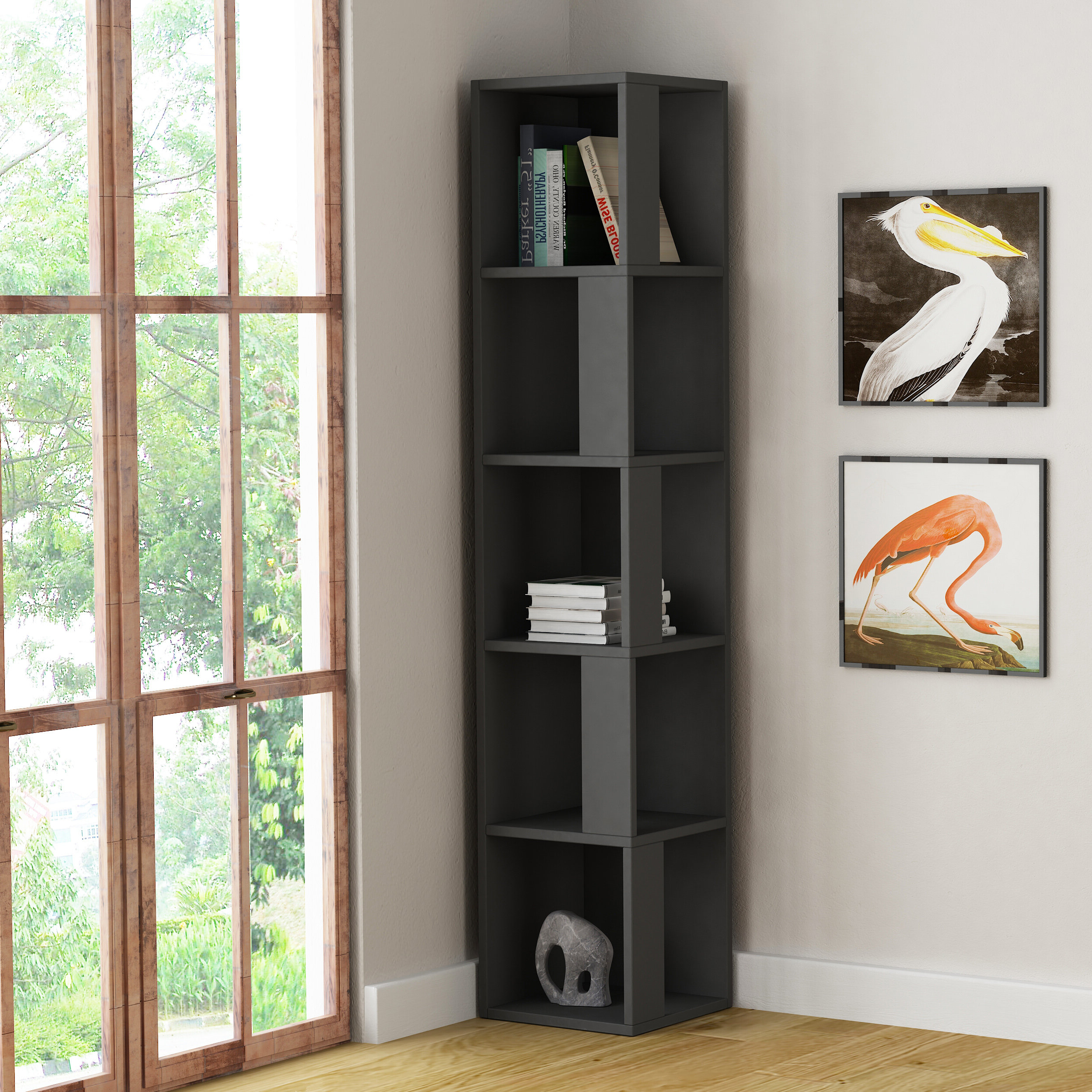 Recent Sisto Corner Bookcase Intended For Courtdale Corner Bookcases (View 4 of 20)