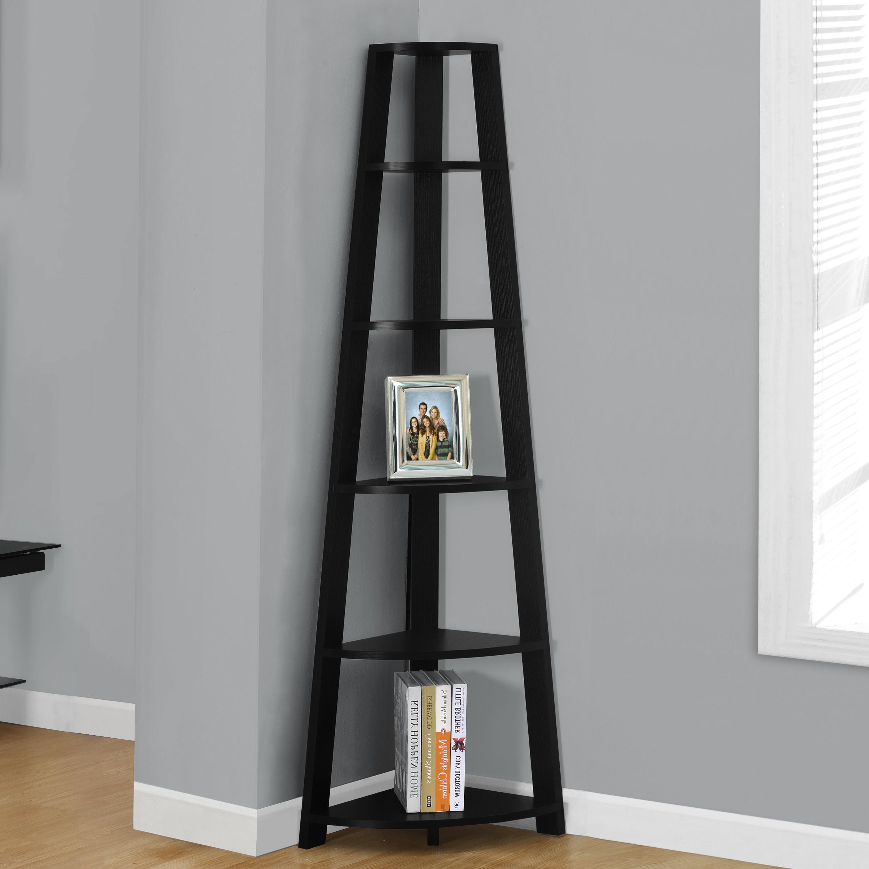 Recent Tisha Corner Bookcases Throughout Arabella Corner Unit Bookcase (View 7 of 20)