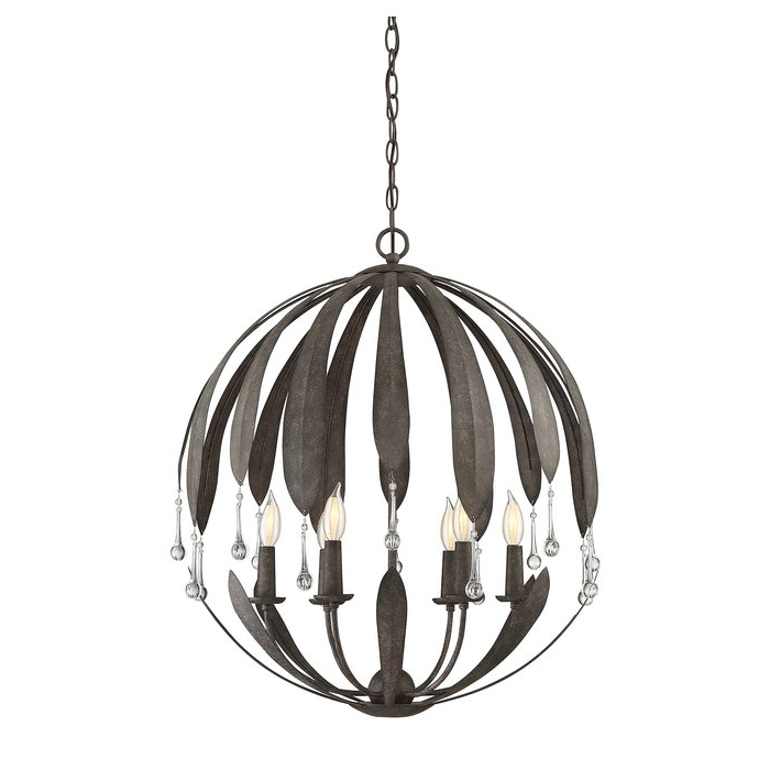 Recent Wyant 6 Light Chandelier Intended For Morganti 4 Light Chandeliers (View 22 of 25)