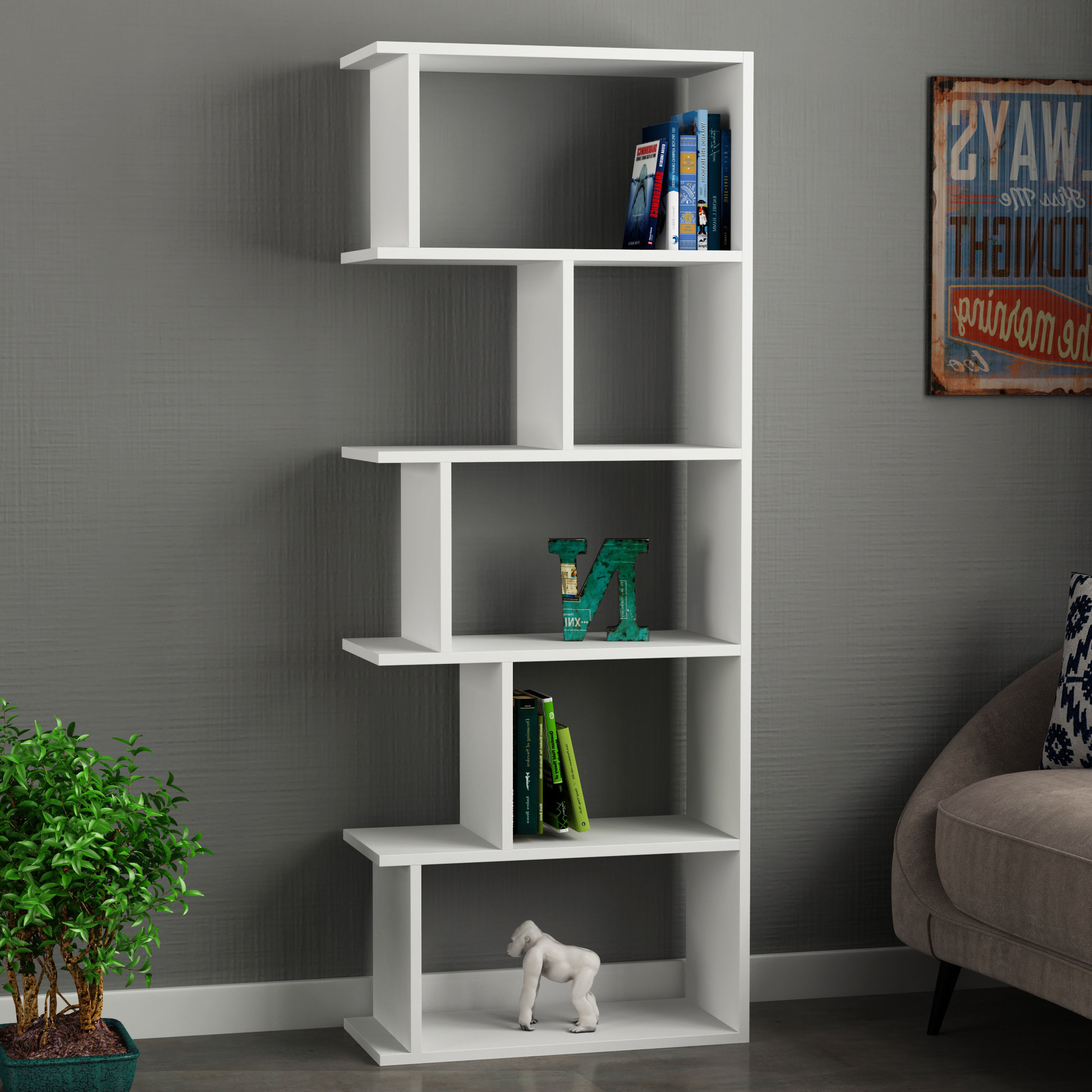 Recent Zack Standard Bookcases Within Celina Modern Standard Bookcase (View 13 of 20)