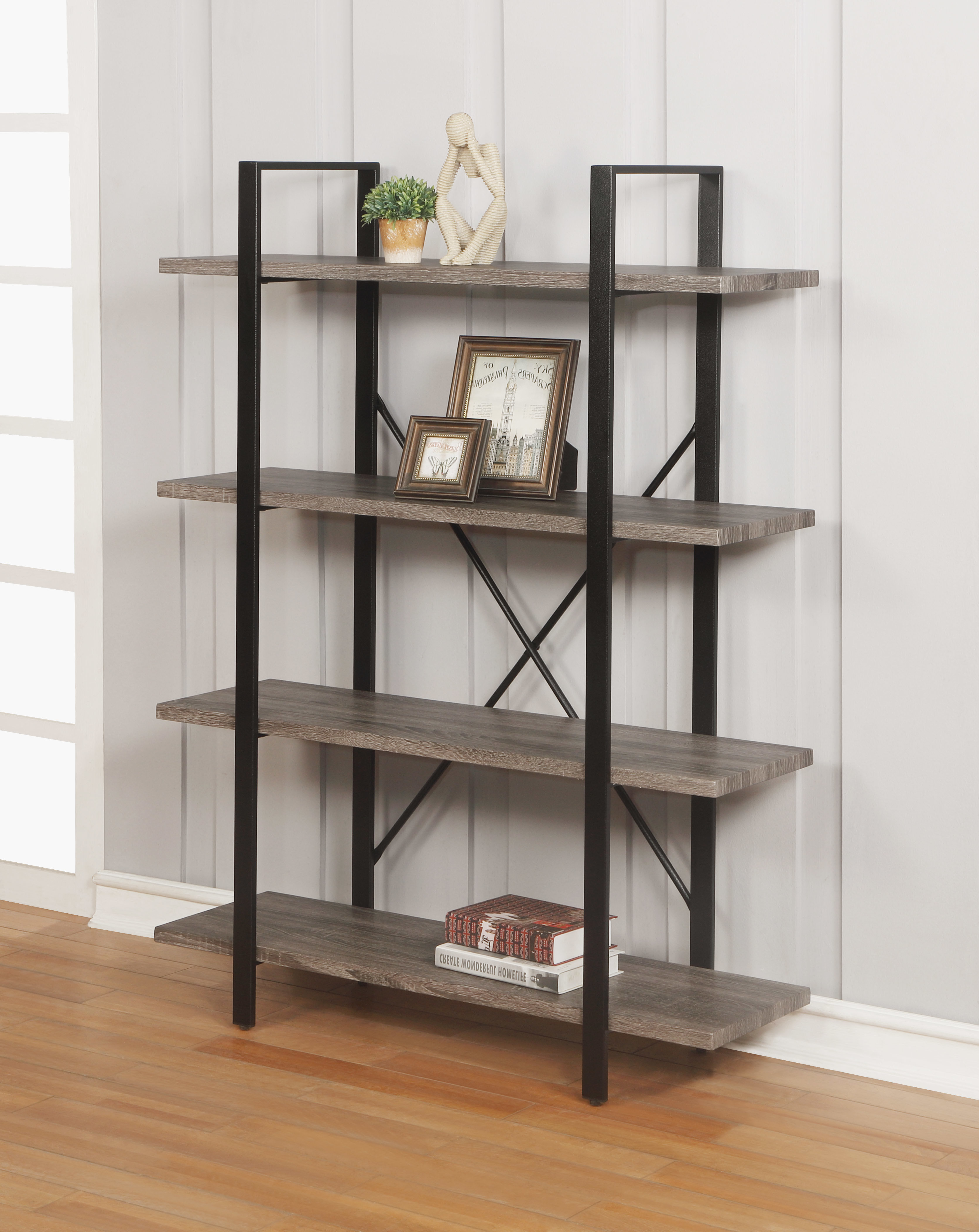Rech 4 Tier Etagere Bookcases For Famous Olivieri 4 Tier Etagere Bookcase (View 14 of 20)