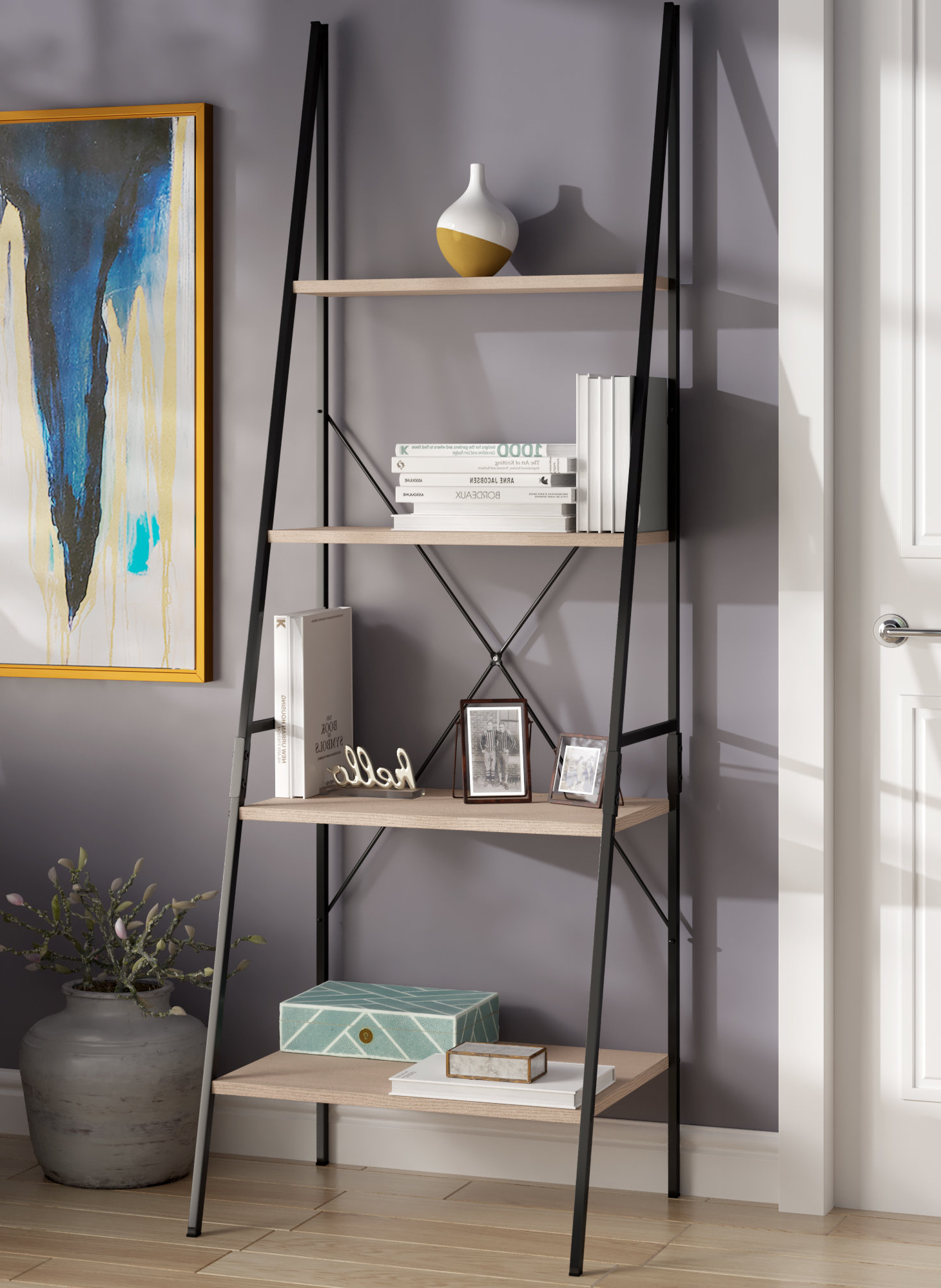 Rech 4 Tier Etagere Bookcases Within 2020 Rech 4 Tier Etagere Bookcase (View 16 of 20)