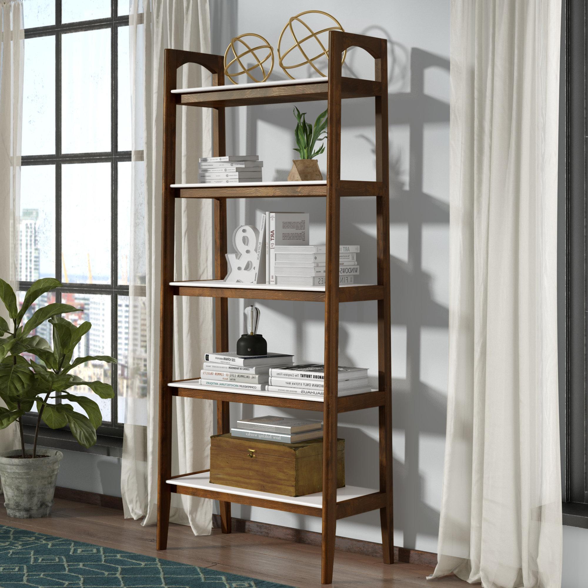 Reclaimed Wood Ladder Shelf (View 15 of 20)