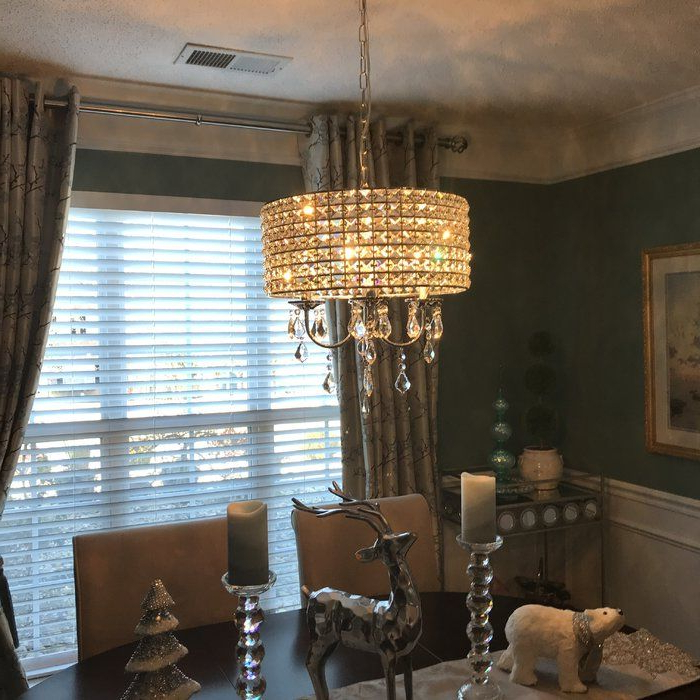 Rectangle Inside Latest Albano 4 Light Crystal Chandeliers (View 8 of 25)