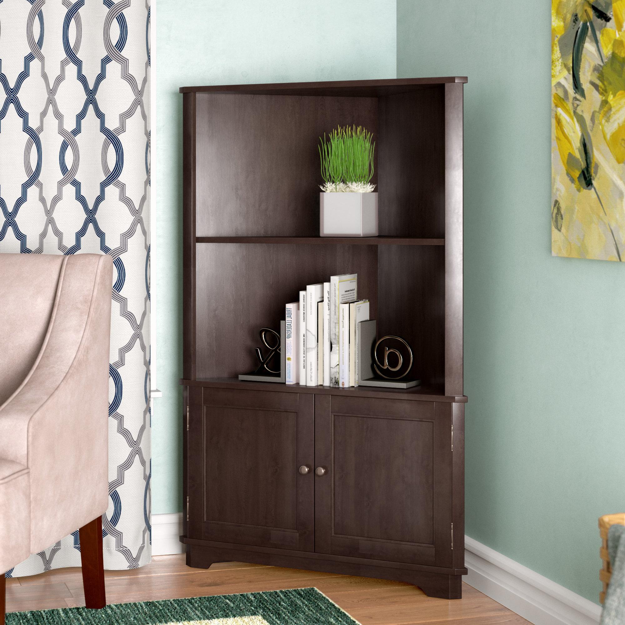 Red Barrel Studio Vas Corner Bookcase & Reviews (View 2 of 20)