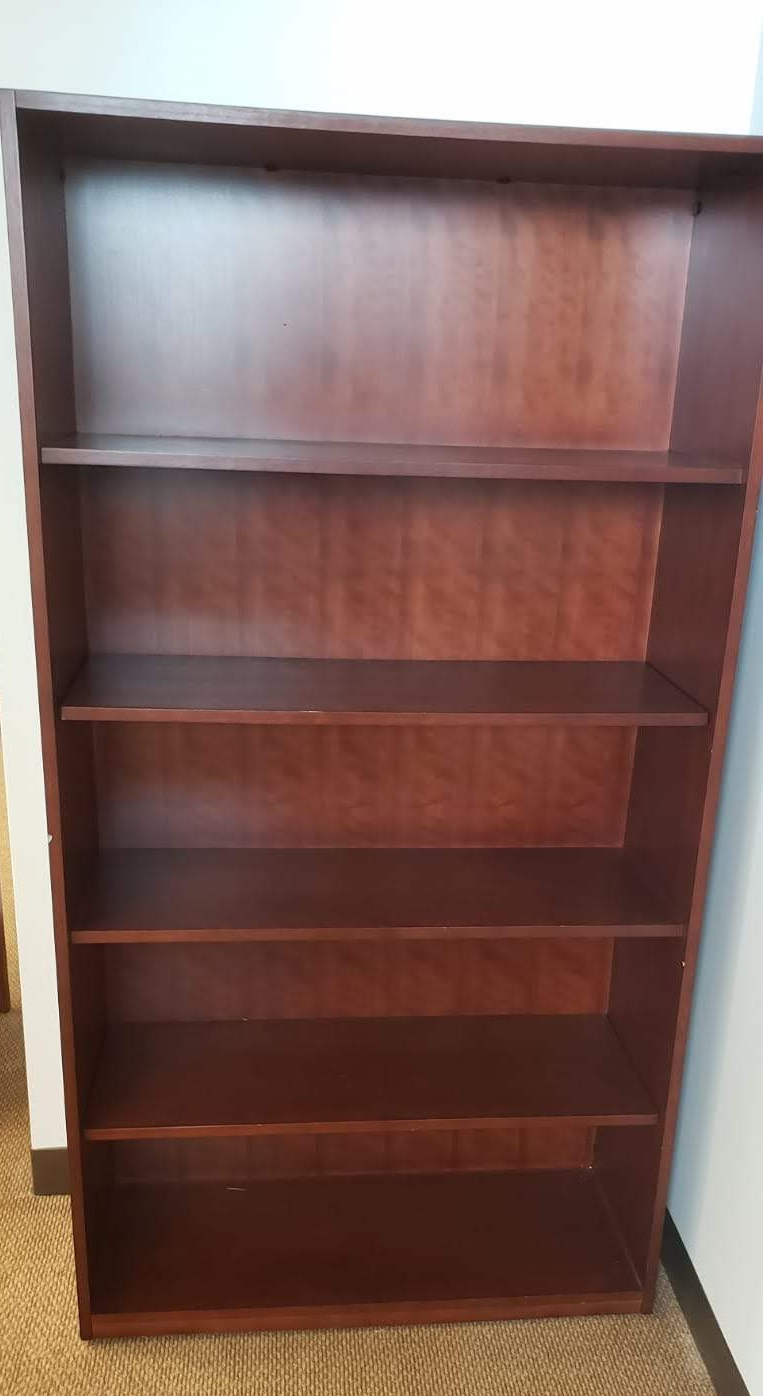 Red Wood Bookshelf Pertaining To Favorite Maryln Standard Bookcases (View 18 of 20)