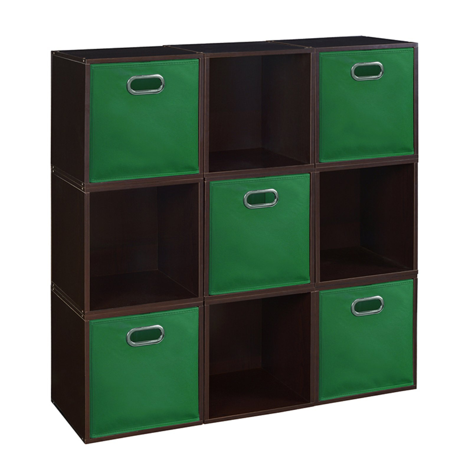 Regency Niche Cubo Nine Cube Storage Unit With Five Foldable Pertaining To Recent Chastain Storage Cube Unit Bookcases (View 5 of 20)
