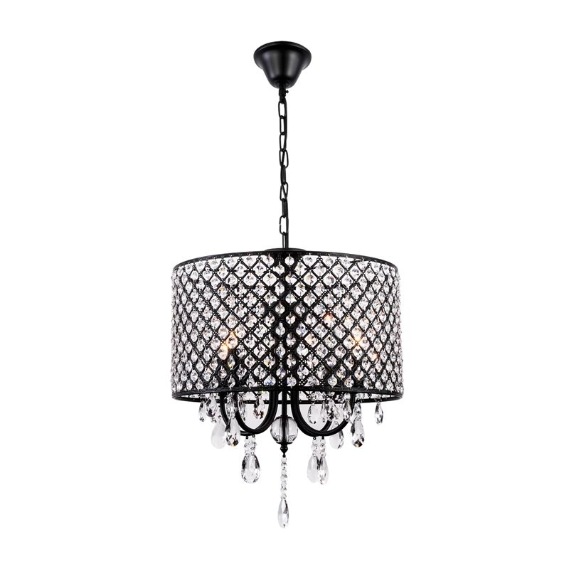 Retro Pendant Light Iron Black Craft Pendant Light Living Regarding Trendy Gisselle 4 Light Drum Chandeliers (View 22 of 25)