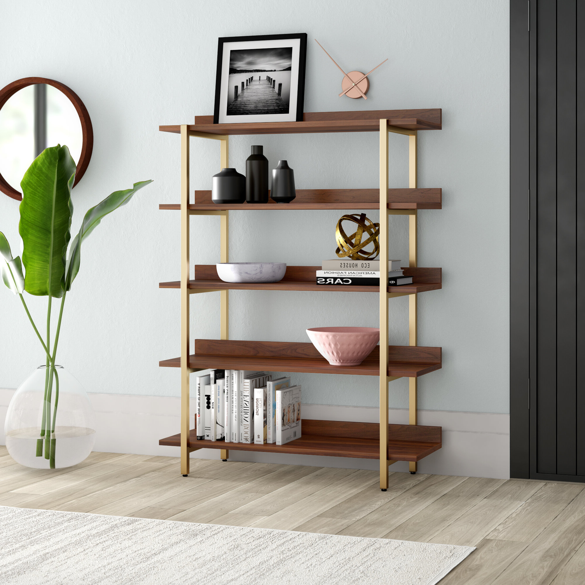 Rhoads Etagere Bookcase & Reviews (View 19 of 20)