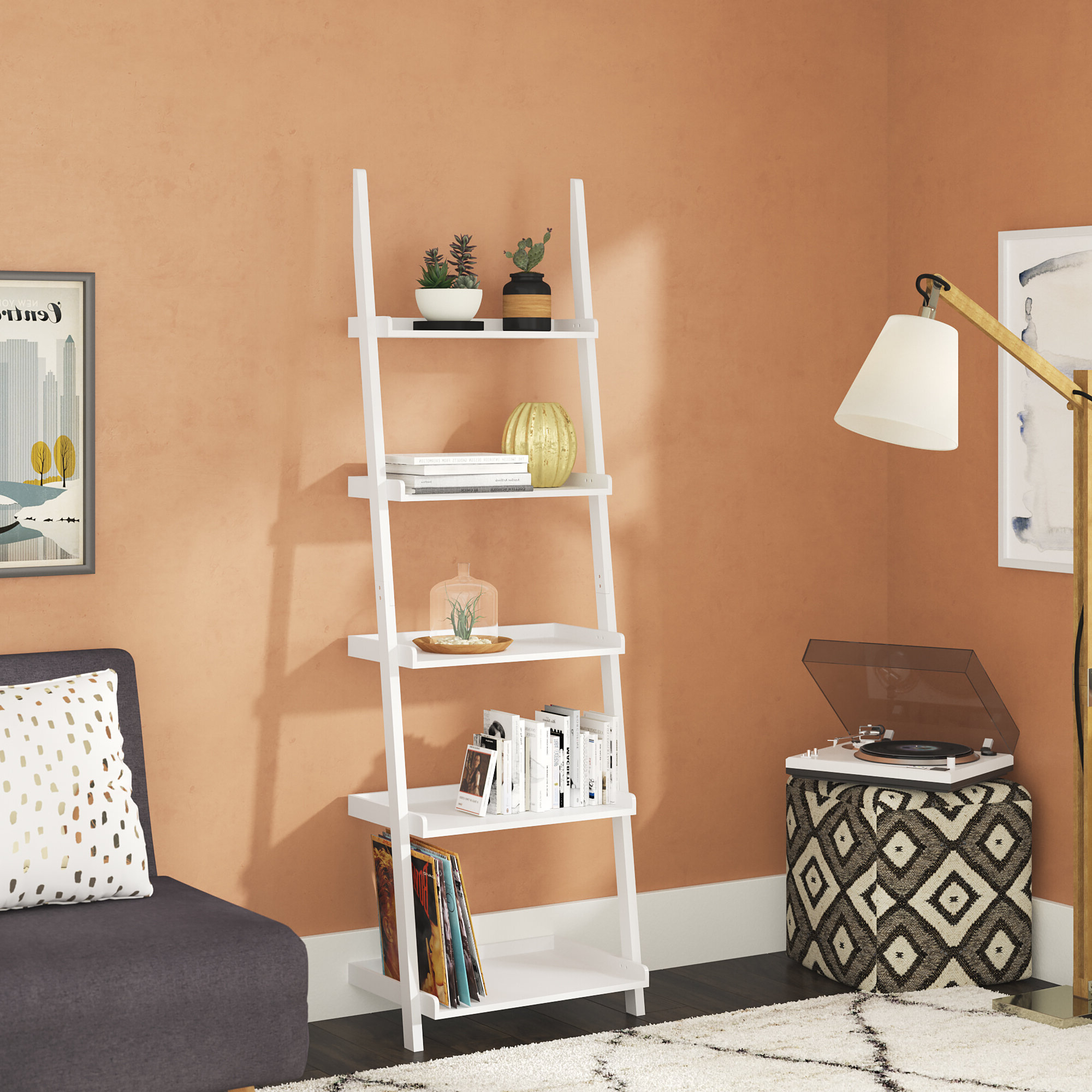 Ricardo Ladder Bookcase With Most Popular Ricardo Ladder Bookcases (View 4 of 20)