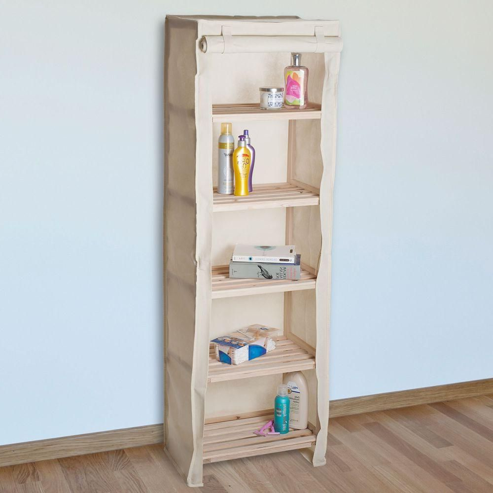 Riddleville Ladder Bookcases Pertaining To Most Recently Released Lavish Home 5 Tier Wood Storage Shelving Rack With Removable (View 13 of 20)