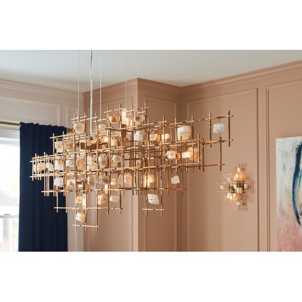 Ringsted 9 Light Geometric Chandelier For Fashionable Hermione 5 Light Drum Chandeliers (View 25 of 25)