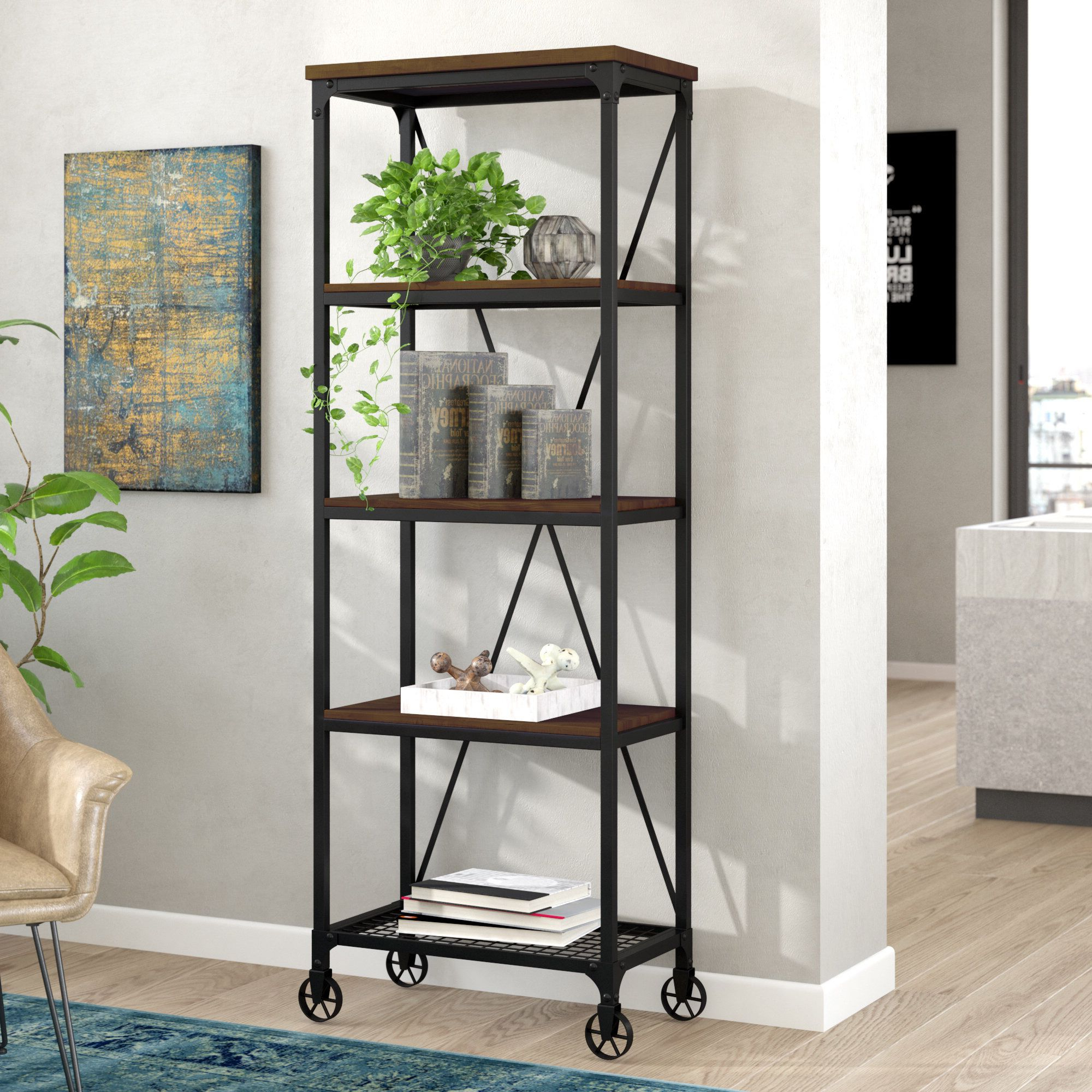 Rocklin Etagere Bookcase In  (View 14 of 20)