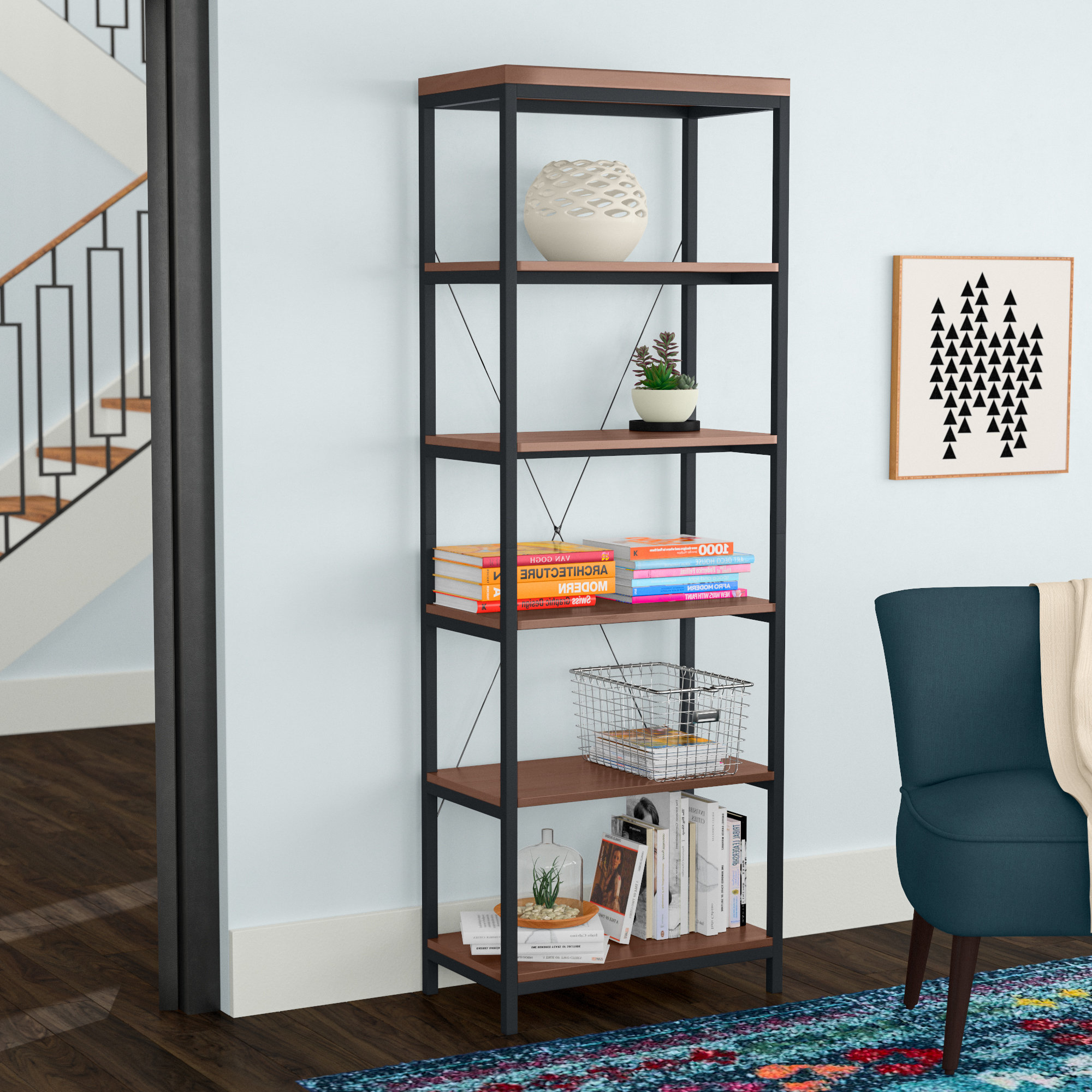 Rocklin Etagere Bookcases In Well Known Glenfield Etagere Bookcase (View 15 of 20)