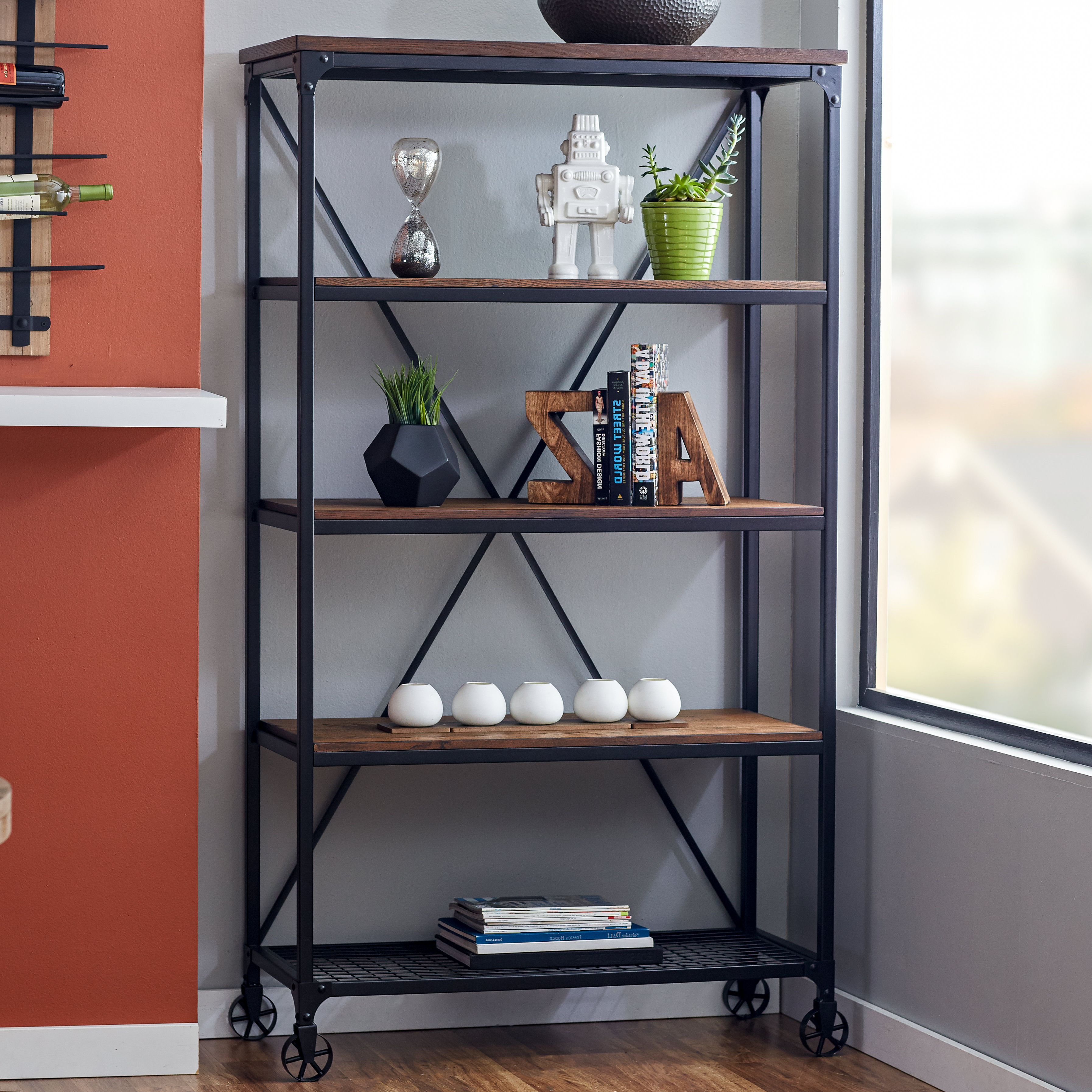 Rocklin Etagere Bookcases Regarding Best And Newest Williston Forge Kilmersdon Etagere Bookcase & Reviews (View 16 of 20)
