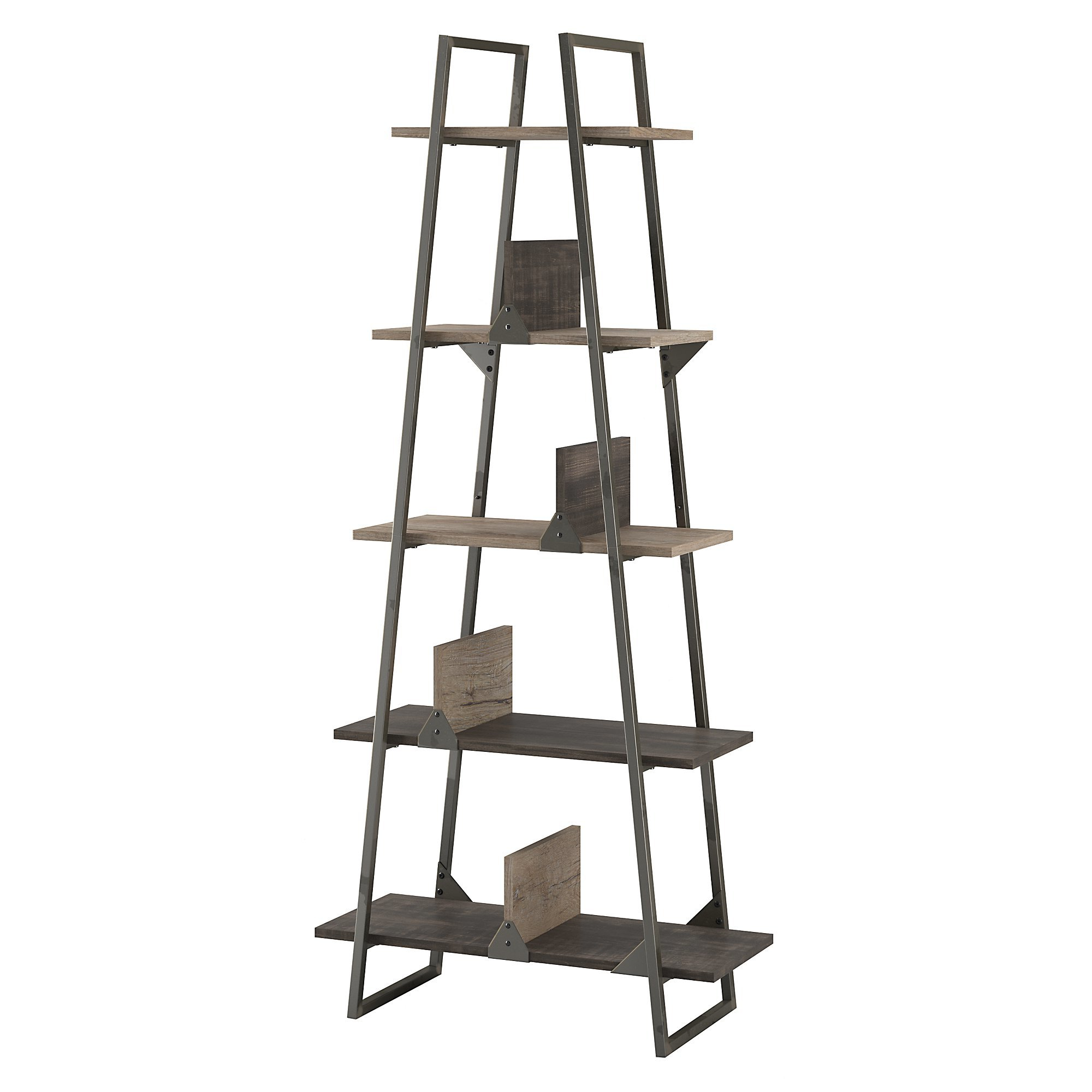 Rosemarie Etagere Bookcase Inside Trendy Averett Ladder Bookcases (View 20 of 20)