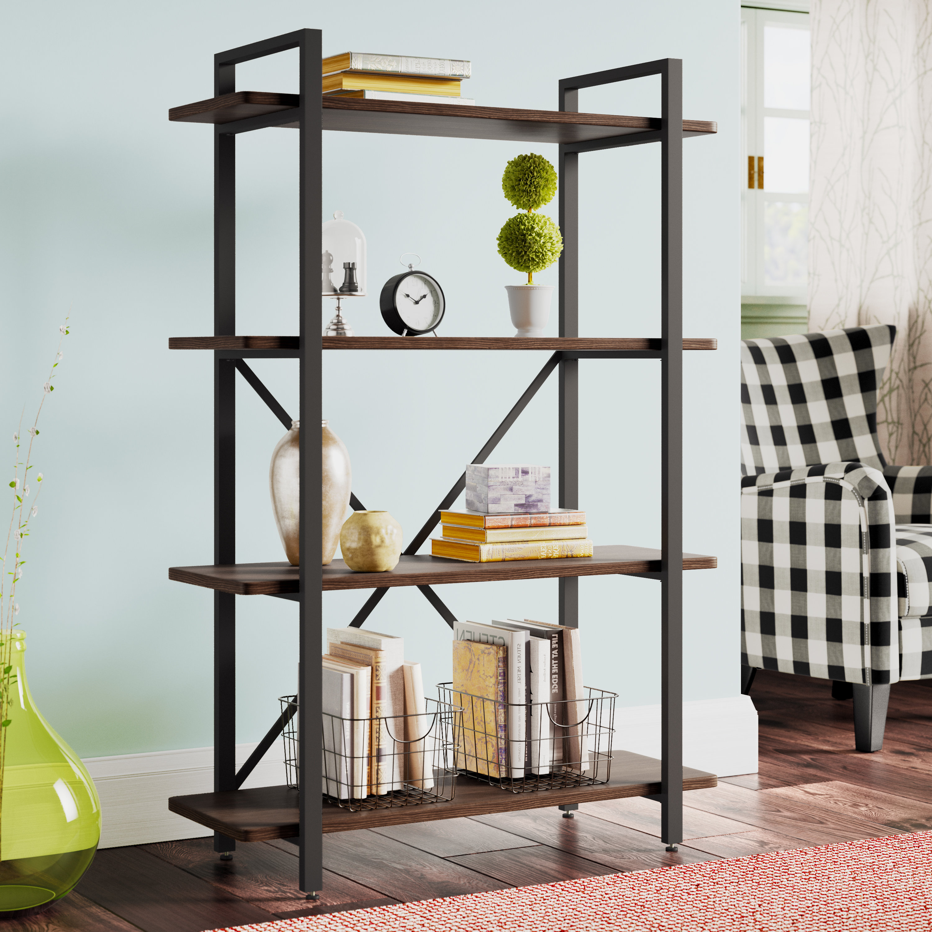 Ross Etagere Bookcase Throughout Fashionable Babbitt Etagere Bookcases (View 16 of 20)