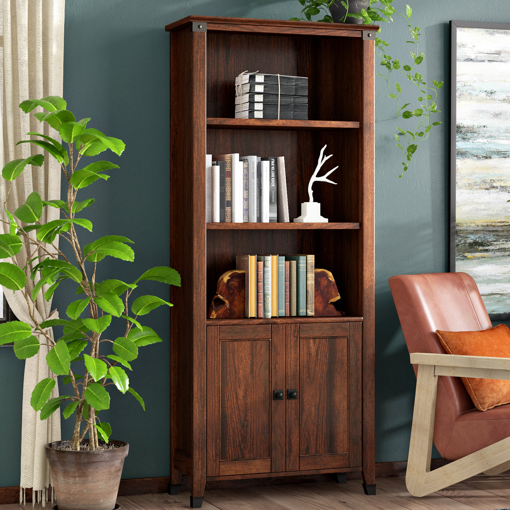 Ryker Standard Bookcases For Most Popular Chappel Standard Bookcase (View 11 of 20)