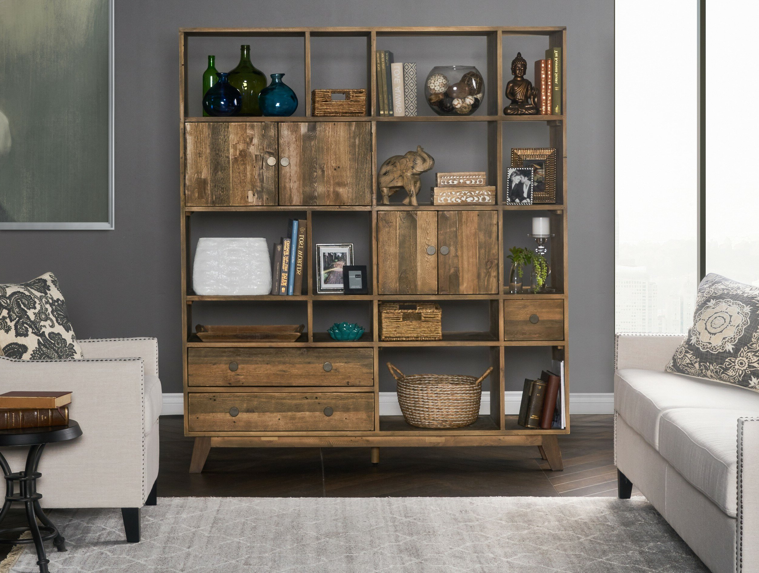 Samuel Geometric Bookcase Pertaining To Most Recently Released Strauss Cube Unit Bookcases (Gallery 13 of 20)