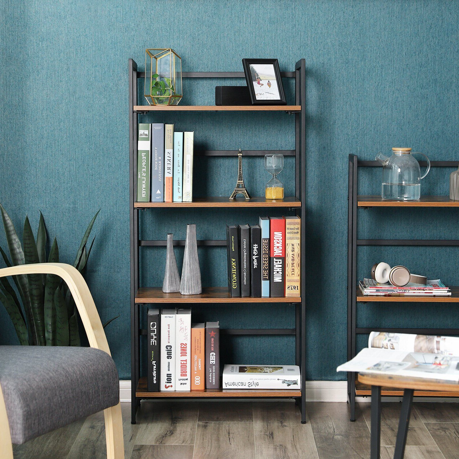 Saskia Etagere Bookcases Intended For 2020 Parkins 4 Tier Portable Etagere Bookcase In (View 7 of 20)