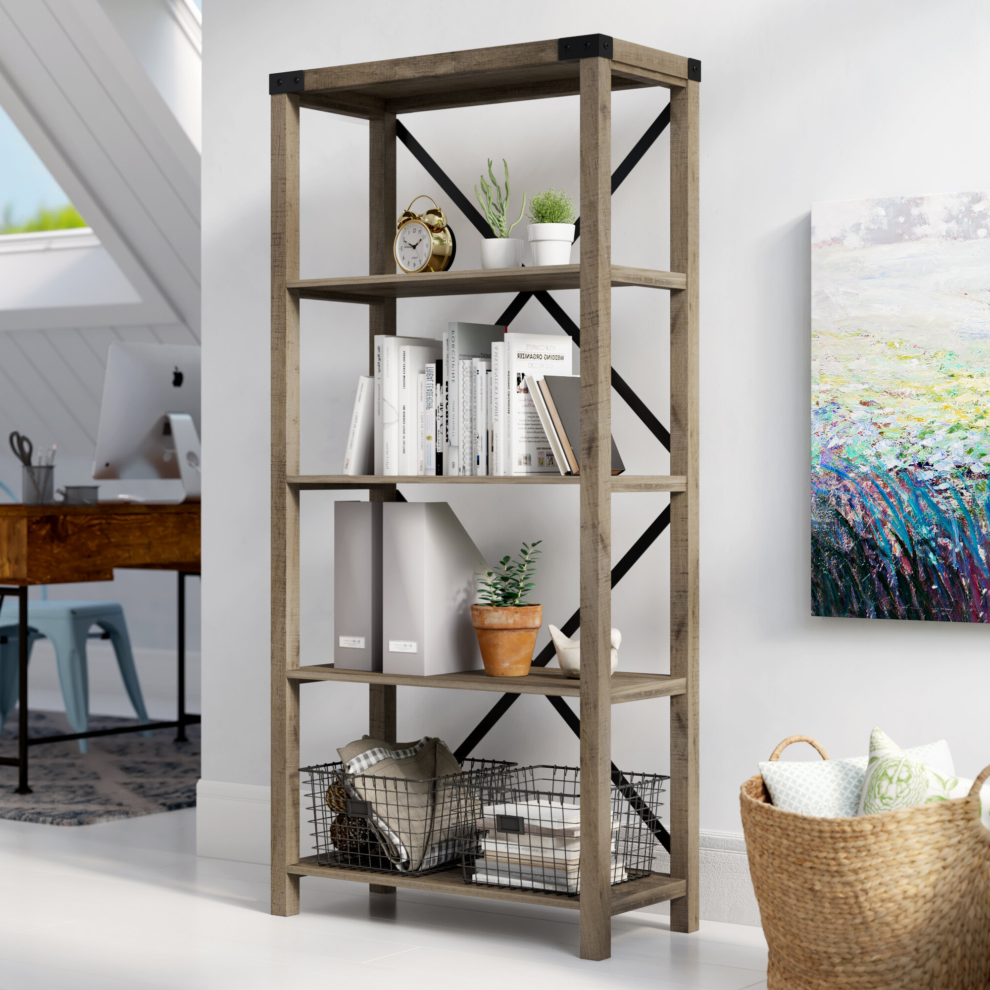 Schreiner Etagere Bookcase In Fashionable Ebba Etagere Bookcases (Gallery 16 of 20)