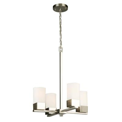 Sea Gull Lighting Ellis Harper 4 Light Brushed Nickel Intended For Most Recent Hewitt 4 Light Square Chandeliers (View 21 of 25)