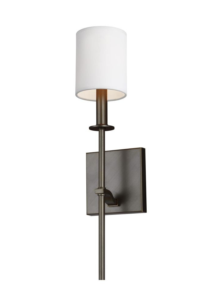 Sea Gull Lighting Wb1873Anbz Hewitt 1 Light Wall Sconce In Antique Bronze  With Square White Paper Shade Intended For Most Recent Hewitt 4 Light Square Chandeliers (View 22 of 25)
