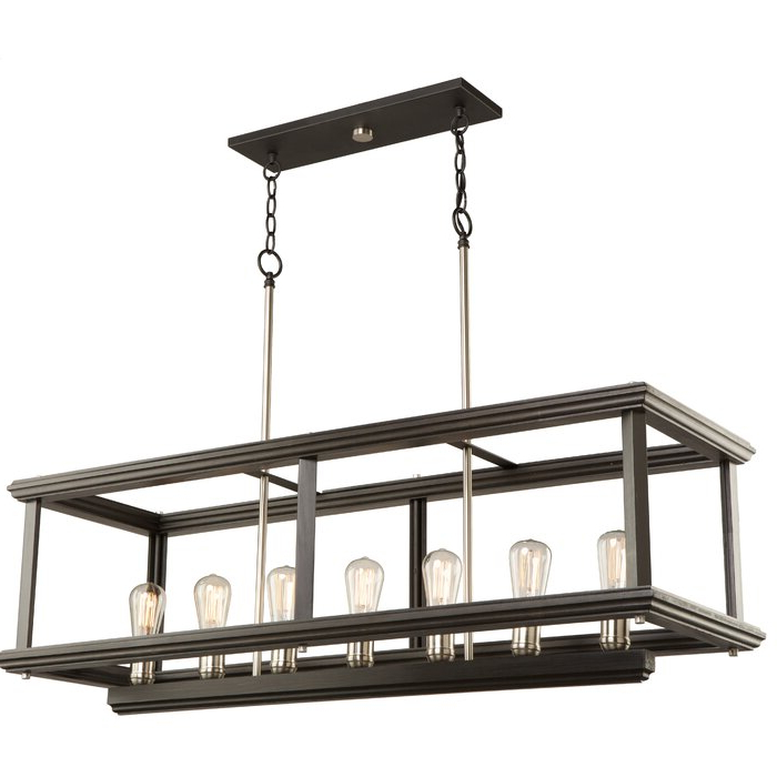 Selina 7 Light Rectangle Chandelier Throughout Trendy Ellenton 4 Light Rectangle Chandeliers (Gallery 7 of 25)