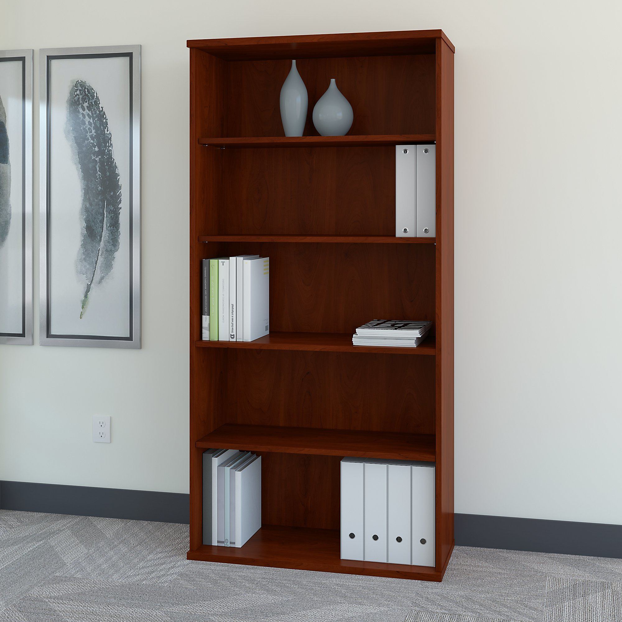 Series C Standard Bookcases In Favorite Bush Business Furniture Series C Standard Bookcase (Gallery 2 of 20)